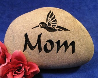 "Custom Engraved Mother's Day Stones/Rocks, Small apx. 4""-5"" wide"
