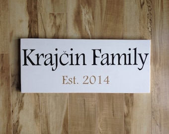 Personalized Family Sign : Antique White finish