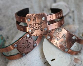 GPS Location Jewelry - Beach Themed Jewelry - Ocean Themed Jewelry - Beach Themed Bracelet - Ocean Themed Bracelet - Personalized Jewelry