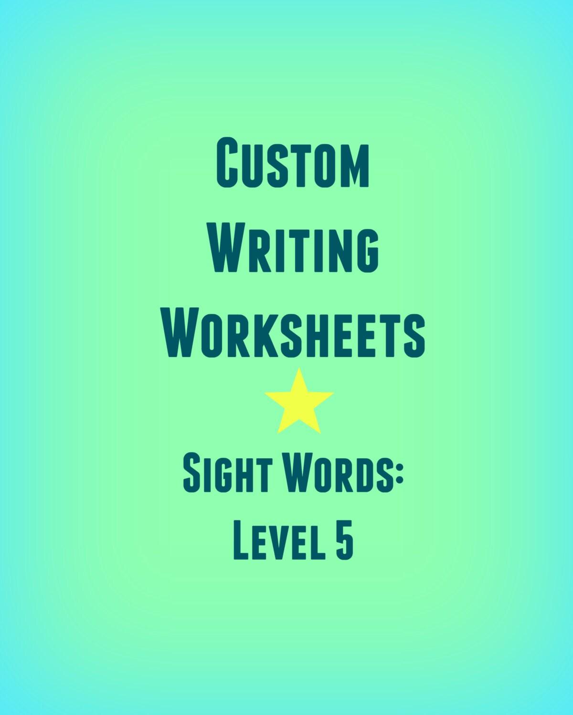 Personalisierte Schreiben Praxis Arbeitsmappe / Sight Wörter /