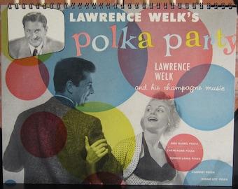 Lawrence Welk Polka Party vintage 1950s artwork ~~ rare /ALBUM COVER NOTEBOOK!