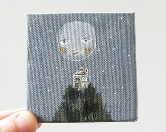 summer nights / original painting on canvas