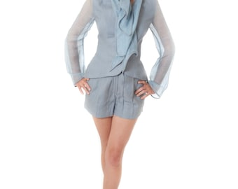 Six pointer jacket with shorts