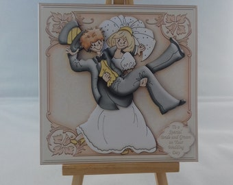 Cute wedding card - Bride and groom