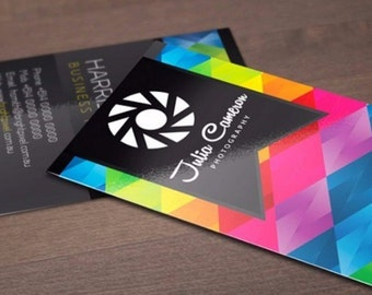 """250 Business Cards or hang tags - 3.5""""X2""""- 14 PT glossy UV Coated -  custom printed"""