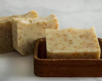 Oatmeal Soap - Unscented Soap - Natural soap - All Natural Soap - Soap - Bar Soap - Cold Process Soap - Homemade Soap - Facial Soap