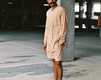 Summers17 collarless shirt (100% handwoven cotton)