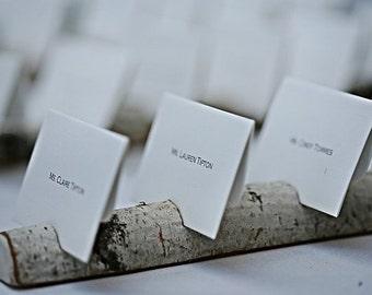 Mariage rustique nom détenteurs de la carte Multi Place carte Escort carte porte-carte pour les mariages entreprises artisans artistes de bouleau