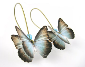 Butterfly Wing Earrings - Boho Chic Earrings - Origami Earrings - Butterfly Earrings For Women - Nature Lover Gift - Unique Earrings For Her
