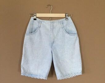 Waist 26 High Waisted Denim Shorts / 90s Jean Shorts / 90s Shorts / Levis High Waisted Denim Shorts / Levis Cutoffs / Denim Cutoffs / Cutoff