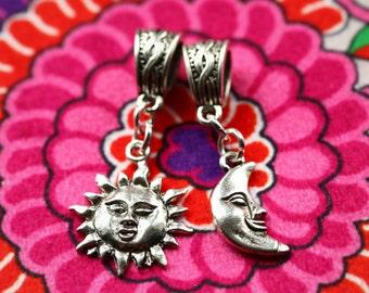 Sun and Moon Dreadlock Bead Set