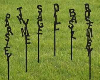 One Herb marker / Garden Marker / Vegetable Garden Stake / Herb Marker / Plant Stake / Outdoor / Garden Plant Markers /
