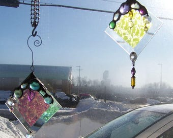 "Winter Ice ""dichroic"" sun catcher"