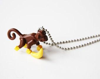 The Little Monkey - Funky Shrunky Necklace