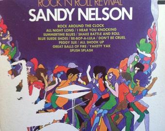 Sandy Nelson Rock N Roll Revival Vinyl Jazz Rock Record Album