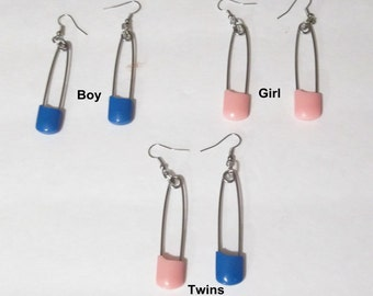Diaper Pin Earrings -Handcrafted