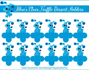BLUE'S CLUES, Blue's Clues Truffle Holders, Blues Clues Chocolate Holders, Blues Clues Party Supplies, Blues Clues Party Favors,Blues Clues.