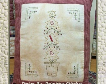 Star Pine-Primitive Stitchery E-PATTERN-INSTANT DOWNLOAD