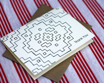 Tribal Notes #3 - A2 Printable Thank You Card (One Design)