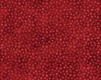 Northcott - Stonehenge Stars & Stripes - Stars - Red - Fabric by the Yard 20160-24