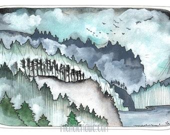 Pacific Northwest Postcards - Postcard Set - Landscape Card - Oregon Postcard - Northwest Art - Set of 3 Northwest Postcards