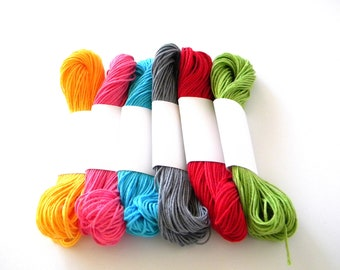 Baker's Twine, Divine Mix of 6 solid colors, 25 yards each or 150 yards total, Assortment