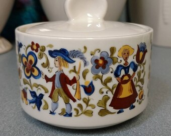 VILLEROY and BOCH Troubadour Covered Sugar Bowl