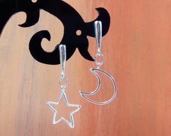 Sterling Silver Earrings Handmade, Minimalist Silver Dangle Earrings, Handmade Jewelry Gift for Women