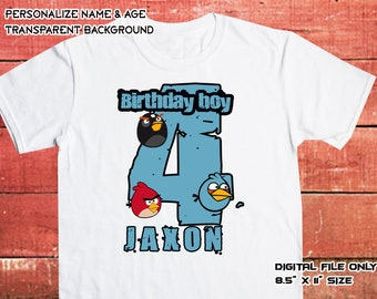 Angry Birds Iron On Transfer DIY , Digital Files Only , High Resolution Image , Angry Birds DIY Shirt