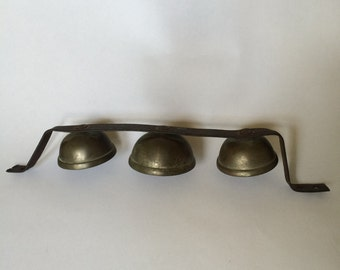 Vintage Set of Brass Sleigh Bells