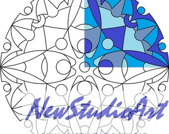 Printable Mandala Coloring Page-Art Therapy-Adult Coloring Page-Antistress-Coloring for Relaxation-Instant Digital Download - MANDALA 007
