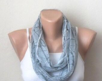gray infinity scarf gray tülle fabric loop scarf