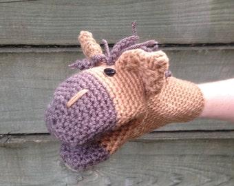 Horse Crochet Hand Puppet