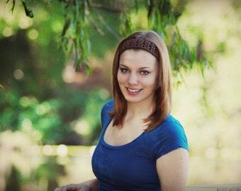 Crochet Cotton Headband, Adjustable Hair Band, Color Choices