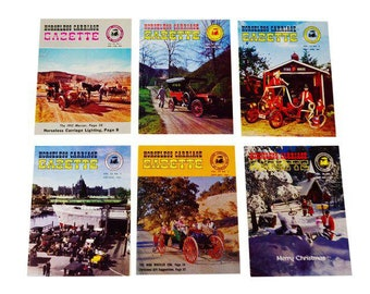 Horseless Carriage Gazette Magazines 1961 Full Year Antique Automobiles, Cars - Group of 6