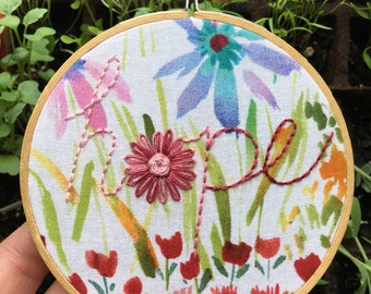 """4"""" Embroidery: Hope"""