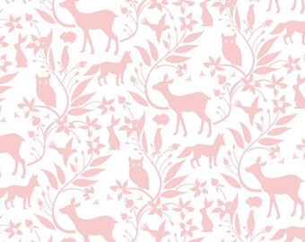 Woodland Baby Bedding - Changing Pad Cover / Pink Nursery Bedding / Fitted Crib Sheets /Contoured Changing Pad Cover / Woodland Crib Sheets
