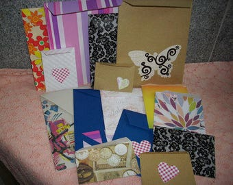 15 colorful bags, paper (797)