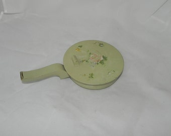 Decorative Floral Silent Butler With Wood Handle
