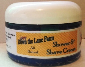 Shower & Shave Cream Men and Women Lavender All Natural Shea Butter  Coconut Oil Deep Hair Conditioner