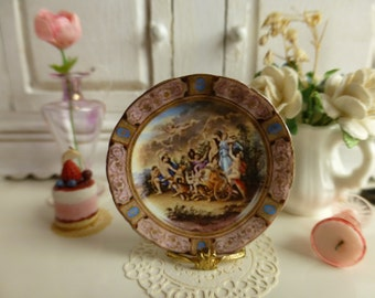 1:12 Scale Royal Vienna  Plate for Dollhouse