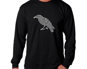 Men's Long Sleeve T-shirt Created Using the First Few Lines from Edgar Allen Poe's The Raven
