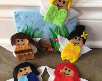 Finger Puppet | Felt |  Tinkerbell Fairies Inspired | Felt Story | Pretend Play