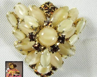 Vintage Juliana Brooch Pin D&E Flower Rhinestone Vintage Jewelry