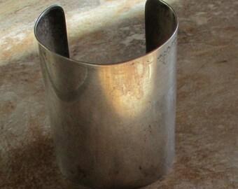 """3"""" Wide Sterling Silver Cuff Bracelet"""