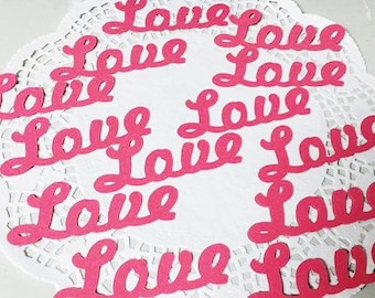 Love Die Cuts Punch Cutouts Embellishments Confetti: Pink (Butterfly Wings Cardstock)