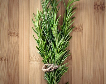 GET 20% OFF TODAY! Kitchen wall decor, Food photography, Kitchen art print, Home decor, Wall art / Culinary Herbs No. 2 Rosemary on Bamboo