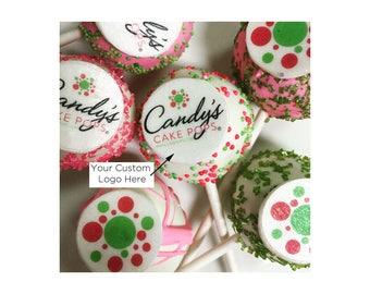 Custom Corporate Logo Cake Pops - 1 Dozen