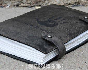 Dark Brotherhood Sketch Journal 6x9 - 120 pages - Hand Bound - Laser Etched - Smoke Black - Skyrim