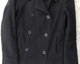 Black Coat Double Breasted Lined